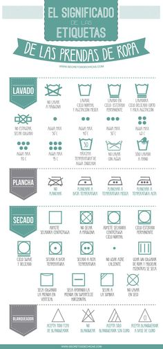 The meaning of garment labels - Home Cleaning Just In Case, Just For You, Room Deco, Fashion Vocabulary, Little Bit, Laundry Hacks, After Life, Home Hacks, Organization Hacks