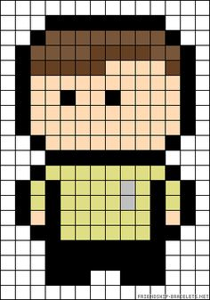 Captain Kirk Star Trek perler bead pattern