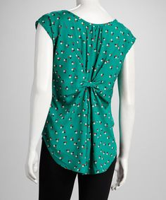 Take a look at this Green Hi-Low Top by Cream & Sugar on #zulily today!