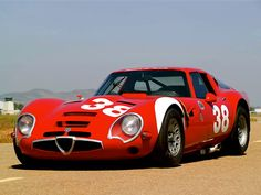 1965' Alfa Romeo TZ2. New cogs/casters could be made of cast polyamide which I (Cast polyamide) can produce