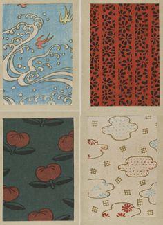江戸時代に描かれた浮世絵…の中に描かれた伝統文様