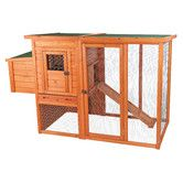 Perfect for the backyard farmer, the Trixie Chicken Coop gives your chickens plenty of room to roam, while keeping them safe and secure. This handsome weather-resistant coop is designed with covered, cozy nesting areas and a spacious outdoor run.