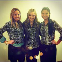 The OB girls are feeling the #jcrew leopard love today! #desksidestyle