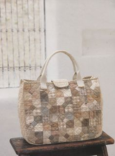How to make tutorial shoulder Bag Handbag  purse women sewing quliting quilt patchwork applique pdf pattern patterns ebook. $5.00, via Etsy.