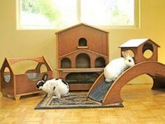 Housing ideas for bunnies! All happy, healthy rabbits live indoors...