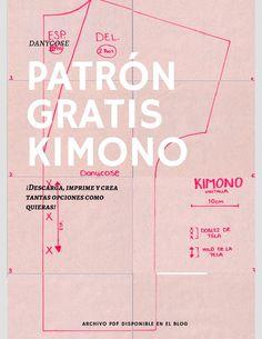 Kimono Shrug, Kimono Dress, Diy Dress, Kimono Pattern Free, Jacket Pattern, Clothing Patterns, Fabric Patterns, Sewing Patterns, Fashion Sewing
