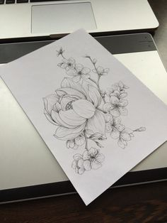 Flower art for tattoo