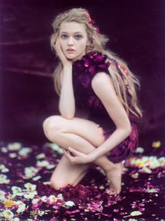 Sasha Pivovarova by Paolo Roversi for Vogue India in 'Enchanted Dreams' {love the vulnerability of this one}