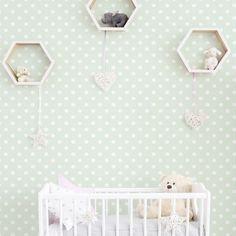 Polka Dots- Removable Wallpaper-Wallpaper-Self Adhesive Wallpaper-Removable-Wall Stickers