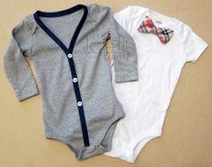 Baby Boy Outfit  Gray/Blue Cardigan & Onesie with by KraftsbyKizzy, $32.00