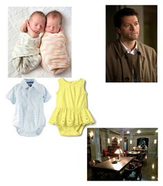 """Castiel is babysitting"" by lemondrop11 ❤ liked on Polyvore"