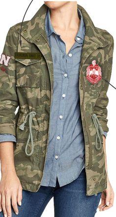 Love this Delta Sigma Theta military jacket! #DST sorority