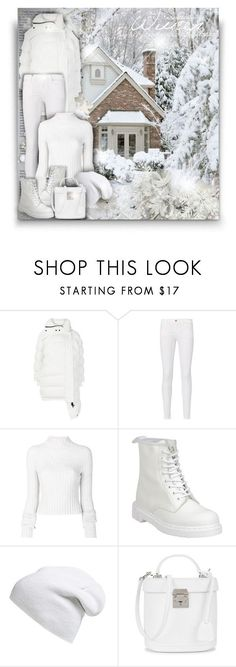 """White Winter! - Contest!"" by asia-12 ❤ liked on Polyvore featuring Balenciaga, Frame, Helmut Lang, Dr. Martens, Phase 3 and Mark Cross"
