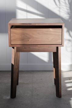 Solid Walnut Nightstand
