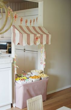Super cute food stand! Beautiful little life: Fairy birthday party.