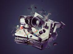 Polaroid Explosion Blog Design Inspiration, Daily Inspiration, Digital Technology, Photo Manipulation, Creative Photography, Life Photography, Digital Photography, Photography Ideas, Design Art