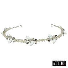 LT617 Narrow Bridal Hair Band Hair Band, Pandora Charms, Bridal Hair, Sparkle, Charmed, Bracelets, Jay, Silver, Jewelry
