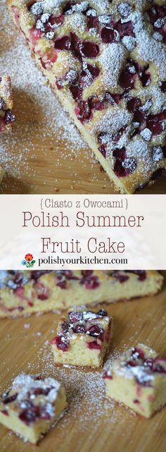 Simple Polish Summer Fruit Cake, buttery and light, with any fruit that are in y. - Simple Polish Summer Fruit Cake, buttery and light, with any fruit that are in your garden or marke - Polish Cake Recipe, Polish Recipes, Polish Food, Polish Nails, 3d Nails, Ukrainian Recipes, Russian Recipes, Baking Recipes, Cake Recipes