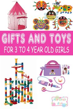 Best Gifts For 3 Year Old Girls. Lots of Ideas for 3rd Birthday, Christmas and 3 to 4 Year Olds