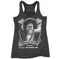Women's Chewbacca Star wars Beer Shirt tank top.
