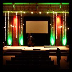 Bubble Wrap Streams | Church Stage Design Ideas