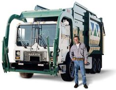 Santek Waste Services - Cleveland, Tennessee Arwood Waste Employee in from of Santek Front Load
