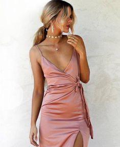 Pajamas For Women Sleepwear Satin Short Pajama Set Sculptresse Cotton Nightwear Womens Hoco Dresses, Satin Dresses, Homecoming Dresses, Pretty Dresses, Silk Dresses Short, Prom, Tight Dresses, Dress Skirt, Dress Up