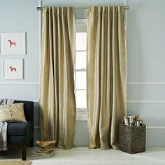 Metallic Basketweave Curtain - Gold #westelm