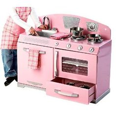 KidKraft Pink Retro Stove  Great Find For The Kiddos @ GW