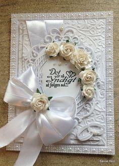 Wedding card - bryllupskort - Det er så yndigt at følges ad.