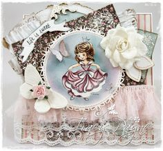 OOAK Drozy Darlines Rose Card by Crafteezee by Crafteezee on Etsy