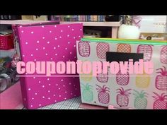 Planner Binder Setup |Tutorial | Target Dollar Spot | Pineapple Print Accordion Folder - YouTube