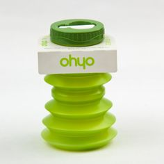 Ohyo is the handy, collapsable water bottle that's easy to take anywhere. Extend an Ohyo to hold of your preferred cold beverage. Then (when empty) squish your Ohyo up to fit in a pocket, a handbag or eve School Water Bottles, Collapsible Water Bottle, Plastic Alternatives, Anabolic Steroid, Planning And Organizing, Museum Shop, Bottle Packaging, Design Museum, Drink Bottles