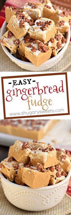 Gingerbread Fudge has all the flavor of your favorite cookies, with none of the hard work doing cookie cut outs. It's the perfect holiday gift too!