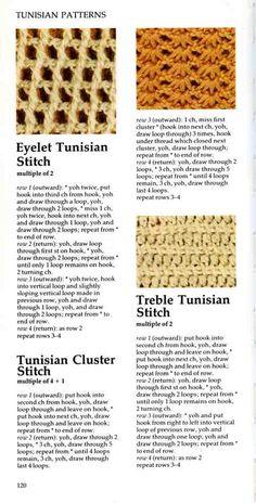 ... chrochet on Pinterest Tunisian crochet, Crochet stitches and Picasa