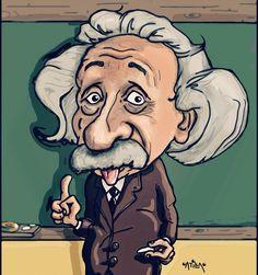 Albert Einstein #einstein  #caricature #cartoon #illustration #drawing