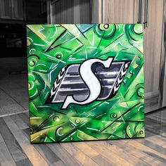 Picture, saskatchewan roughriders Go Rider, Saskatchewan Roughriders, Saskatchewan Canada, Best Football Team, Book Of Life, Diy Art, Green Colors, Drawing Ideas, Man Cave