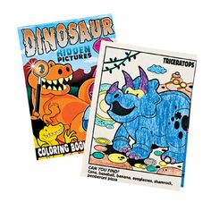 Dinosaur Picture Find Activity Book.  Includes picture searches and two pages of animal stickers.  Great activity, and wonderful party gifts and loot bag fillers.  set includes: 1 x book 12 pages; 17.8cm