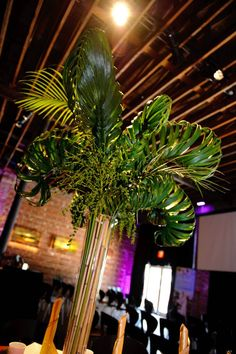 Have your guests amazed with these braided palm leaf centerpieces!