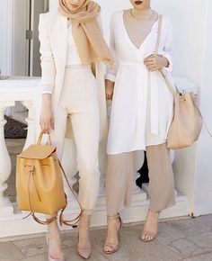 neutral hijab outfits