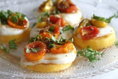 Roasted Tomato Caprese Polenta Stacks are the perfect app for an outdoor occasion!