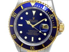 40mm Gents Rolex 18k Gold & Stainless Steel Oyster Perpetual Submariner Watch. Blue Dial. 18k Yellow Gold Bezel, blue insert. 18k Gold & Stainless Steel Oyster Band. Style 16613.   Metal:  TWO-TONE  Order Item:  31109  Style:  SUBMARINER  Gender:  GENTS  Band:  TT OYSTER  Dial:  BLUE  Bezel:  BLUE  Crystal:  SAPPHIRE  Movement:  AUTO  List Price:  $12,200  Our Price: call for price