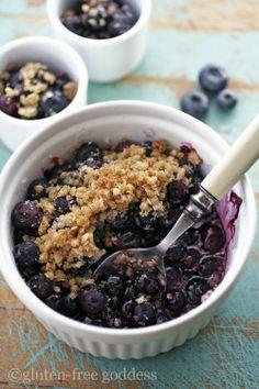 Gluten Free Blueberry Crumble Crisp Recipe