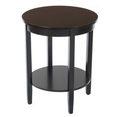 @Overstock - The Bianco Collection round accent table features a wood-top design and a lower shelf that adds contemporary functionality to any room. This accent piece is a great way to completely change the look and feel of your living space.http://www.overstock.com/Home-Garden/Bianco-Collection-Black-Round-Wood-Top-Accent-Table/7213199/product.html?CID=214117 $134.99