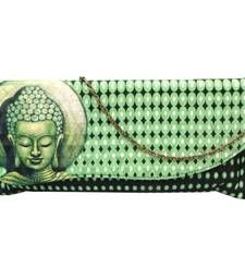 Buy Wavy Flap Digital Clutch (Green) clutch online