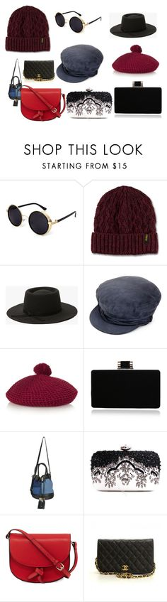"""""""Hat and Glasses"""" by cierratpink on Polyvore featuring Dr. Martens, Maison Michel, Gucci, See by Chloé, KC Jagger and Chanel"""