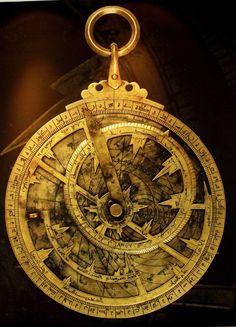 "An astrolabe (Greek: ἀστρολάβος astrolabos, ""star-taker"")[1] is an elaborate…"