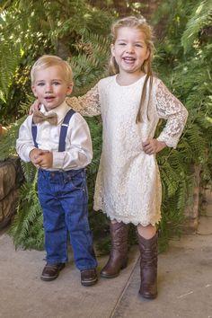 Ring Bearer (Son) & Flower Girl (niece) Photography: Farrell Photography Venue: Jackson Rancheria Casino Resort Flowers: Wildflowers at Jackson Rancheria  Rustic Burlap and Lace Country Wedding Navy Blue and Sunflowers