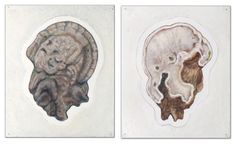 "Beyounes Semtati ""Nature"" (diptyque), gouache sur carton, 62 x 105 cm, 2011"