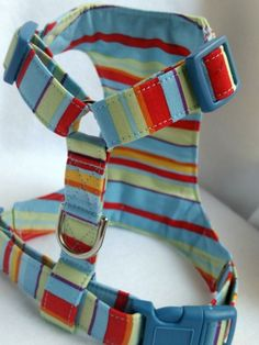 Dog Harness /Sunny Plaid/No Pull harness by ChiwawaPrincessandCo